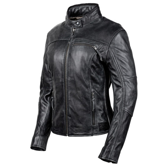 Cortech Women's Lolo Motorcycle Leather Jacket - Black Side View