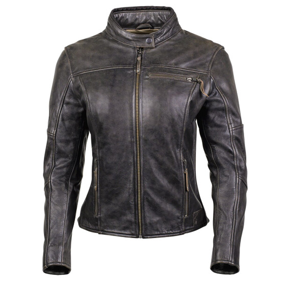 Cortech Women's Lolo Motorcycle Leather Jacket - Brown