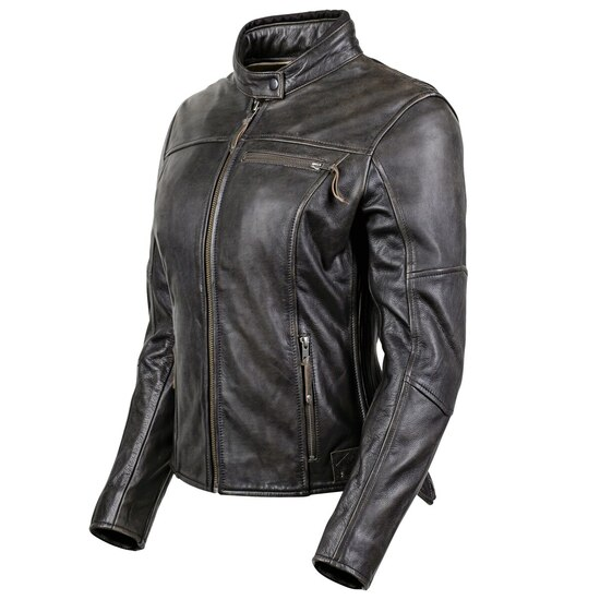 Cortech Women's Lolo Motorcycle Leather Jacket - Brown Side View