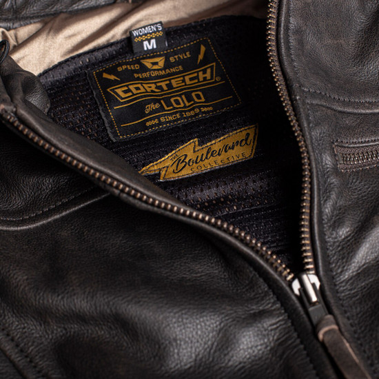 Cortech Women's Lolo Motorcycle Leather Jacket - Detail View
