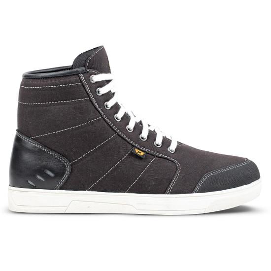 Cortech Freshman Mens Motorcycle Shoes - Black/White Side View