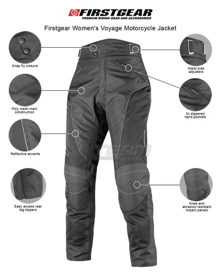 Firstgear Women's Contour Air Motorcycle Pants - Infographics