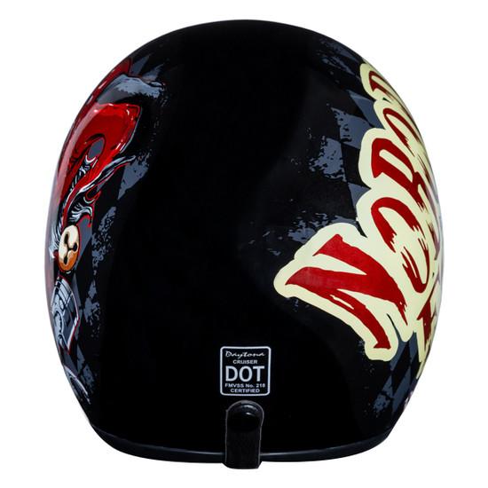Daytona Cruiser Jocker Helmet - Back View