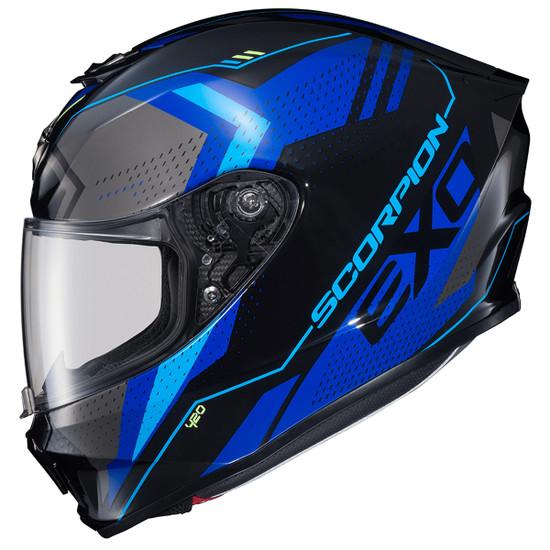 Scorpion EXO-R420 Seismic Helmet - Blue