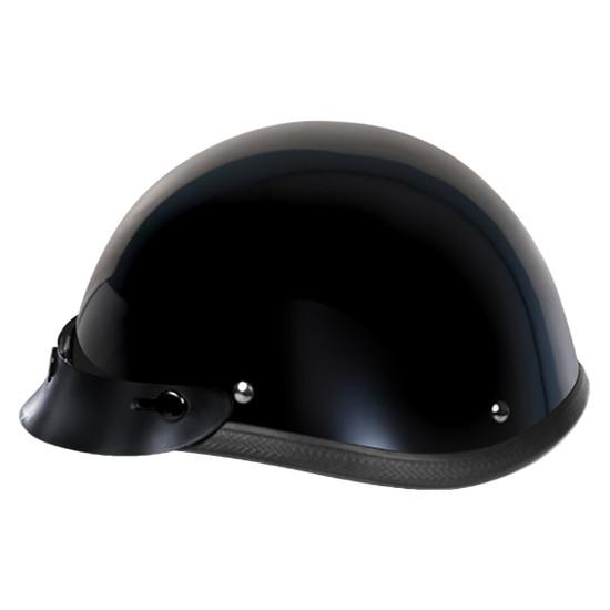 Daytona Novelty Smokey With Snaps Half Helmet - Right