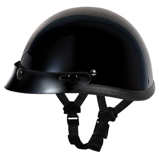 Daytona Novelty Smokey With Snaps Half Helmet - Black