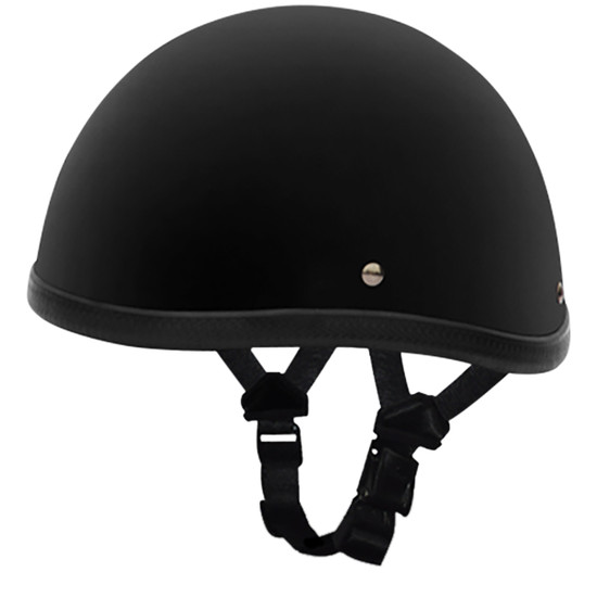 Daytona Novelty Smokey Without Snaps Helmet - Flat Black