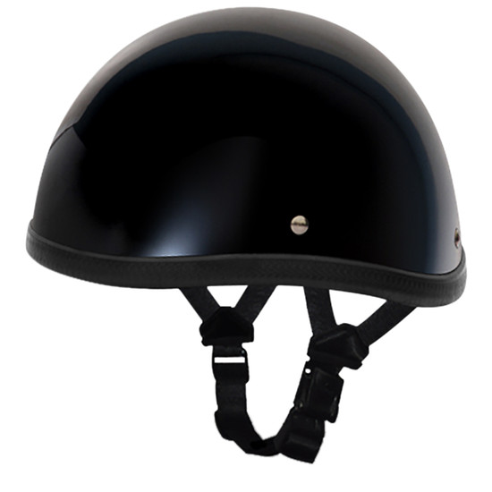 Daytona Novelty Smokey Without Snaps Helmet - Black