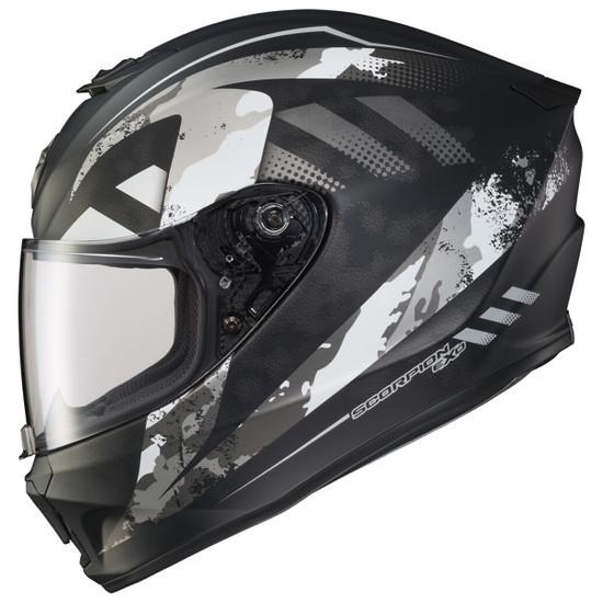 Scorpion EXO-R420 Distiller Helmet - Black/Silver
