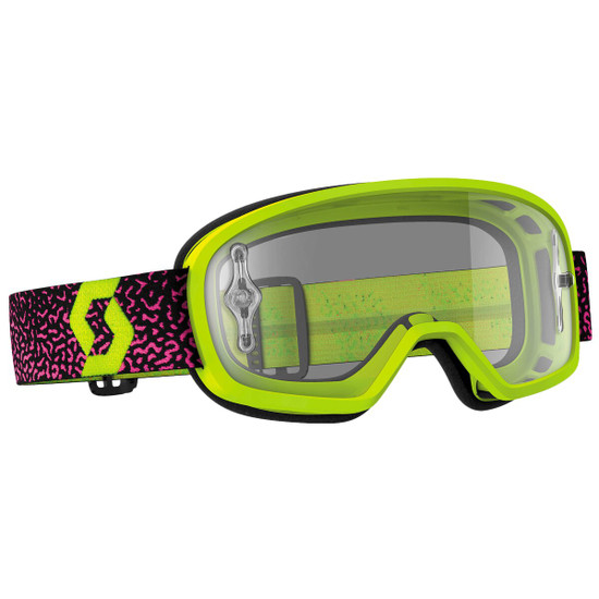 Scott Youth Buzz Pro Clear Lens Motorcycle Goggles - Pink