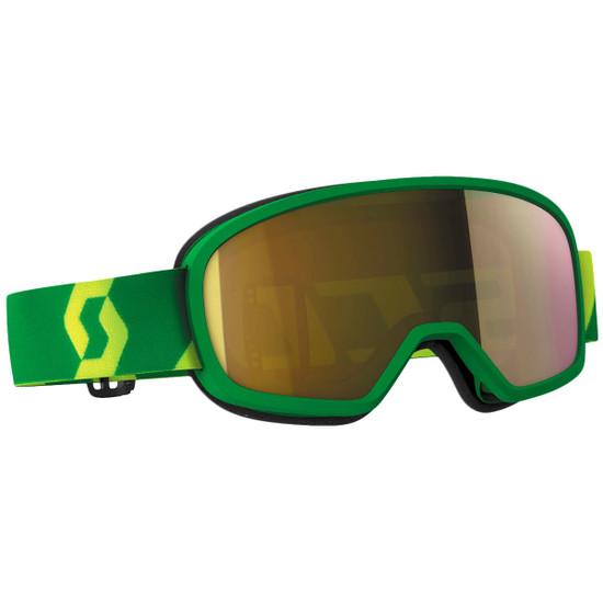 Scott Youth Buzz Pro Chrome Lens Goggles - Yellow/Green