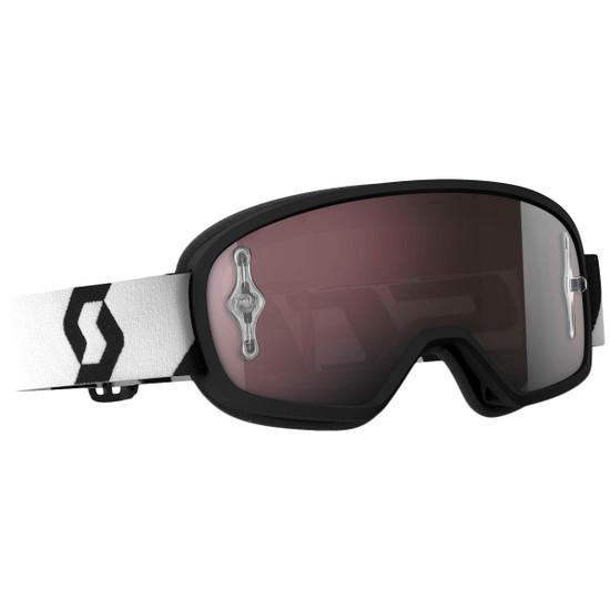 Scott Youth Buzz Pro Chrome Lens Goggles - Black/White