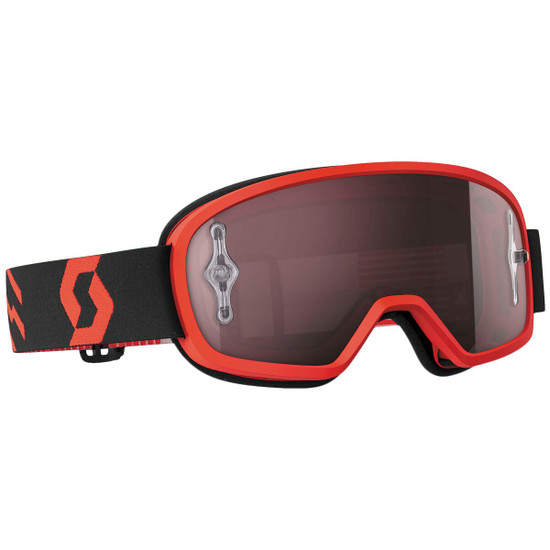 Scott Youth Buzz Pro Chrome Lens Goggles - Red/Black