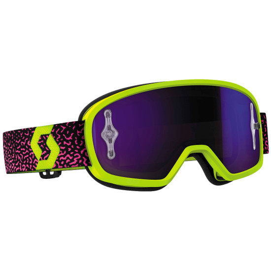 Scott Youth Buzz Pro Chrome Lens Goggles - Pink