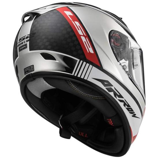 LS2 Arrow C EVO Indy Helmet - Rear View