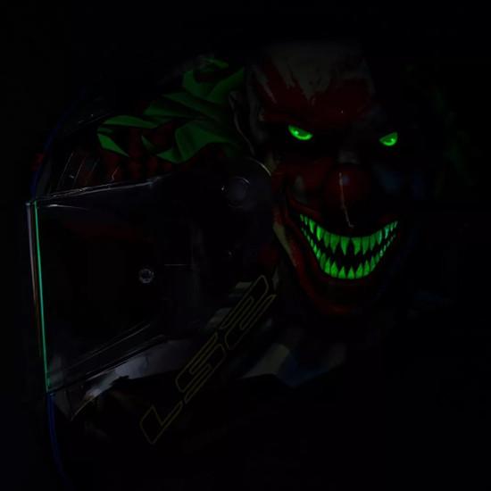 LS2 Rapid Happy Dream Glow In The Dark Helmet - Night View