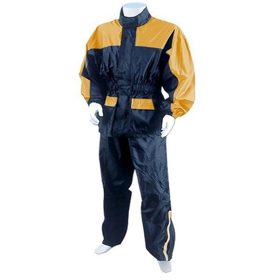 Two Piece RS5031 Motorcycle Rain Gear - Yellow