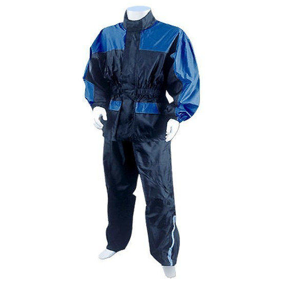 Two Piece RS5031 Motorcycle Rain Gear - Blue