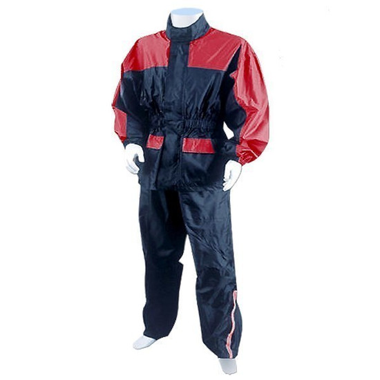 Thunder Under RS5031 Mens and Womens Two Piece Rainsuit Motorcycle Rain Gear - Red