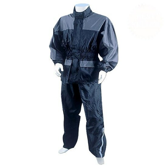 Thunder Under RS5031 Mens and Womens Two Piece Rainsuit Motorcycle Rain Gear - Grey