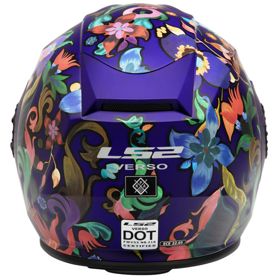 LS2 Verso Flora Brazil Helmet - Back View