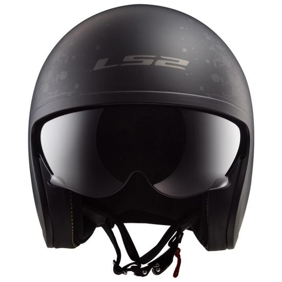 LS2 Spitfire Black Flag Helmet - Front View