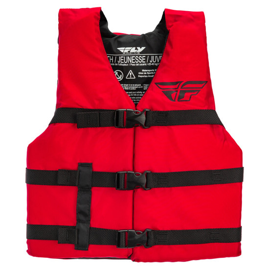 Fly Youth Nylon Vest - Red