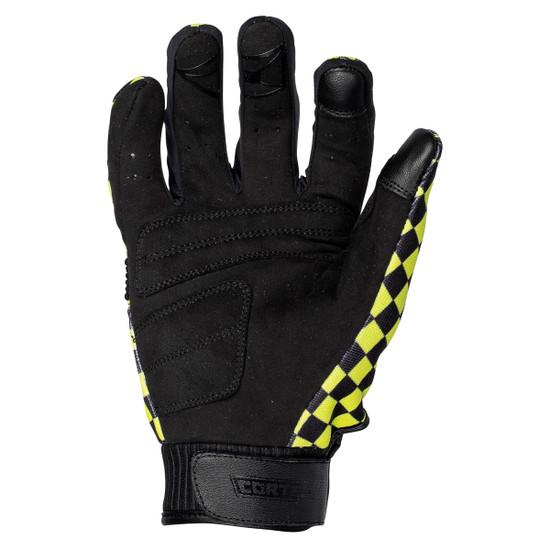 Cortech Thunderbolt Gloves-Black/Hi-Viz-Palm-View
