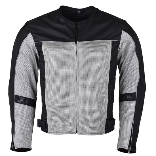 Advanced Vance VL1626 'Velocity' Waterproof 3-Season Mesh/Textile CE Armor Motorcycle Jacket -Front View
