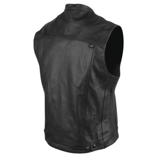 Speed and Strength Mens Band of Brothers Leather Vest - Back View