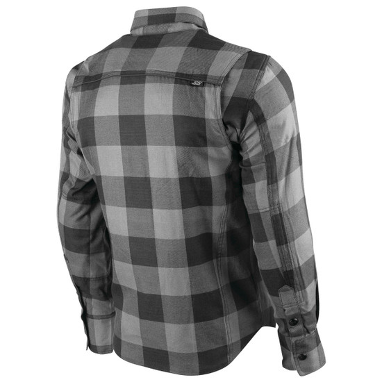 Speed and Strength Mens True Grit Armored Moto Shirt - Back View