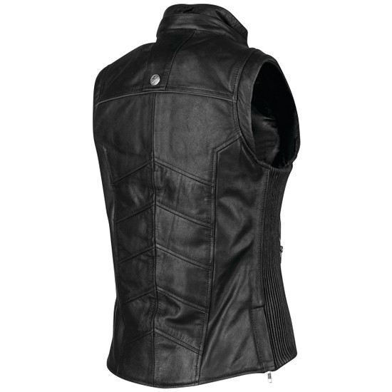 Speed and Strength Womens Hells Belles Leather Vest - Back View