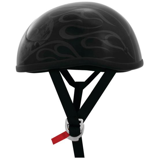 Skid Lid Original Ghost Skull Flames Helmet