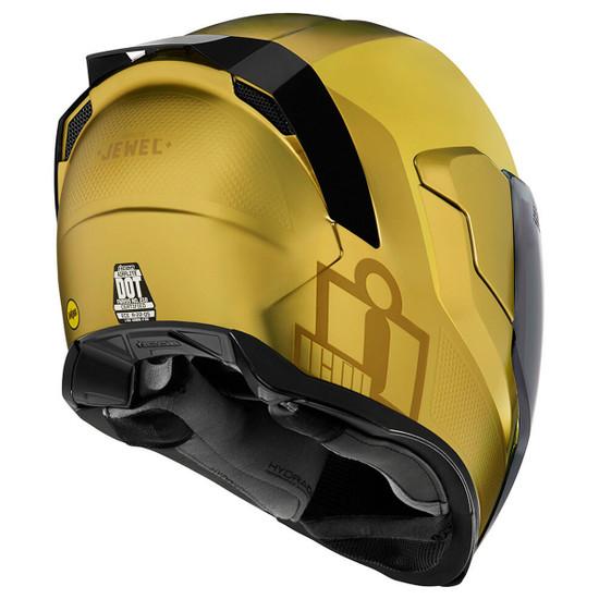 Icon Airflite Jewel MIPS Helmet - Gold Rear View