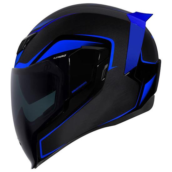 Icon Airflite Crosslink Helmet - Blue Side View