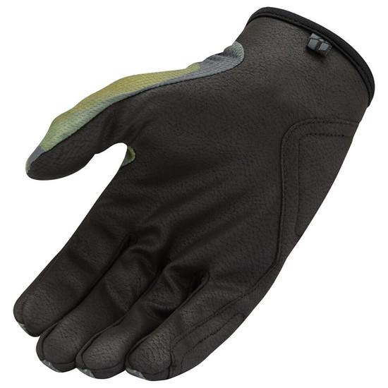Icon Hooligan Battlescar Gloves - Green Palm View