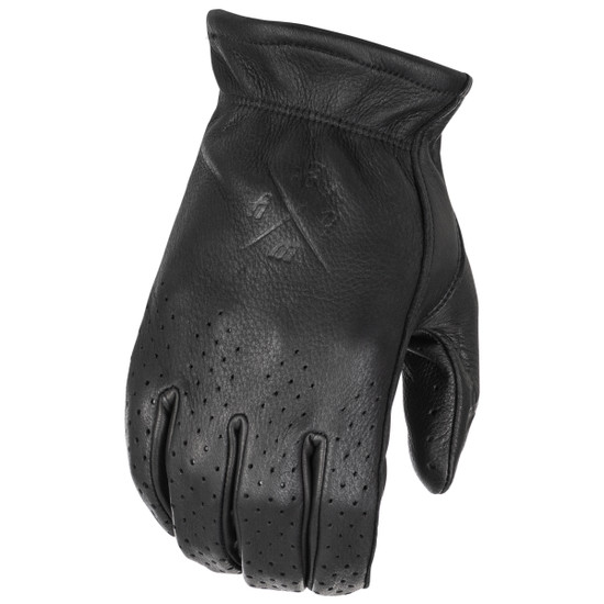 Highway 21 Perforated Louie Gloves - Black