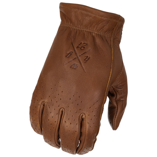 Highway 21 Perforated Louie Gloves - Brown