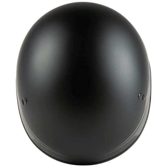 GMax HH 65 Source Naked Half Helmet-Black/Silver-Top-View
