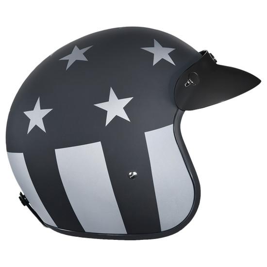 Daytona Cruiser Captain America Stealth Helmet-Right-View