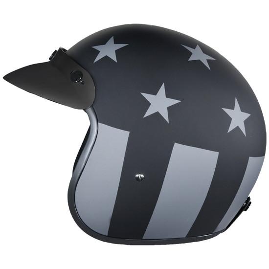 Daytona Cruiser Captain America Stealth Helmet-Left-View