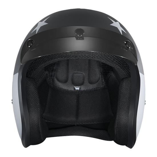 Daytona Cruiser Captain America Stealth Helmet-Front-View