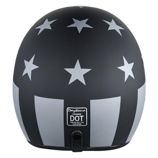 Daytona Cruiser Captain America Stealth Helmet-Back-View