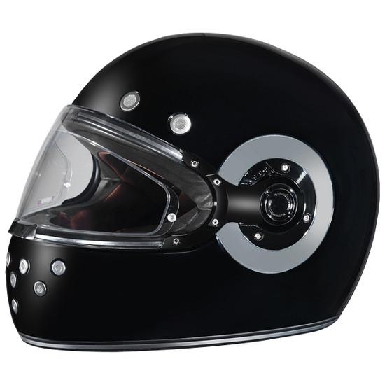 Daytona Retro Chrome Helmet