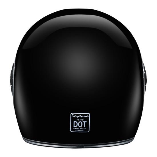 Daytona Retro Chrome Helmet-Back-View