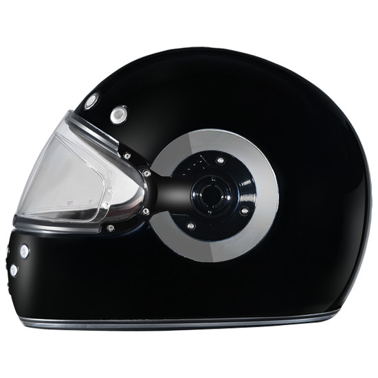 Daytona Retro Chrome Helmet-Left-View