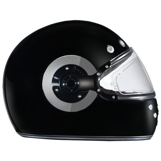 Daytona Retro Chrome Helmet-Right-View