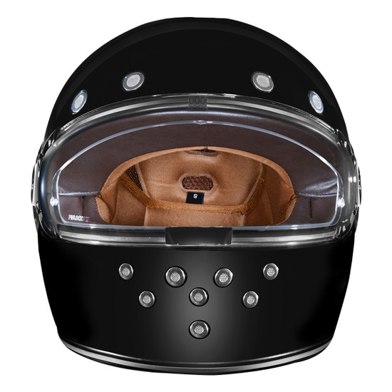 Daytona Retro Chrome Helmet-Front-View
