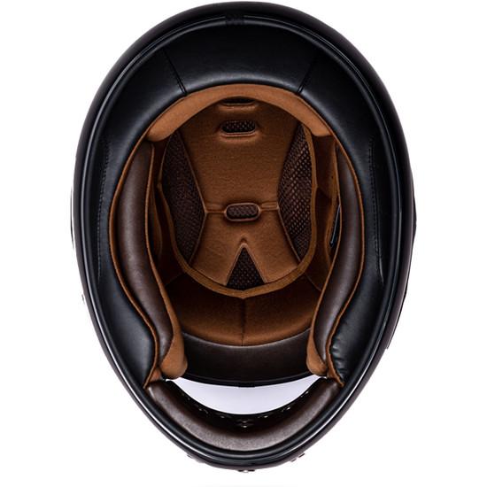 Daytona Retro Chrome Helmet-Inner-View