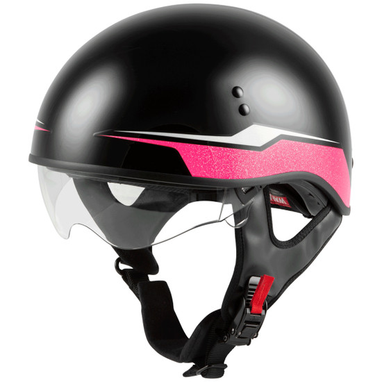 GMax Women's HH 65 Source Naked Half Helmet-Clear-Shield